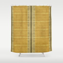 """""""Simple Oriental Curtains (Light Yellow)"""" Shower Curtain"""