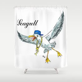 Funny seagull Shower Curtain