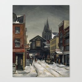 American Masterpiece 'Christopher Street - Greenwich Village' by Beulah Bettersworth Canvas Print