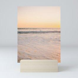 Blurry ocean Santa Teresa   Costa Rica travel sea photography   Pastel tones Mini Art Print