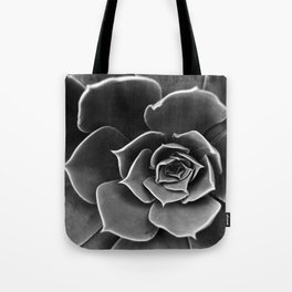 Black and White Succulent Tote Bag