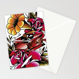 Traditional Roses and Phonograph Stationery Cards