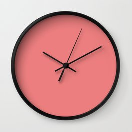 Sweet Pink Solid Wall Clock