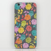 roses iPhone & iPod Skins featuring ROSES by Bianca Green