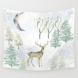 Winter Landscape Wall Tapestry