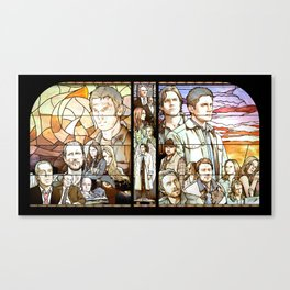 Supernatural Stained Glass Canvas Print
