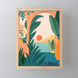 Tropical Evening Framed Mini Art Print