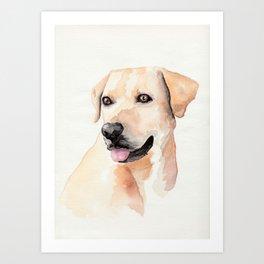 Labrador Retriever Watercolor Art Print