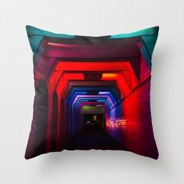 Rainbow Light Tunnel II Throw Pillow