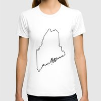 maine T-shirts featuring Maine by mrTidwell