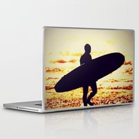 surfer Laptop & iPad Skins featuring Surfer by  Alexia Miles photography