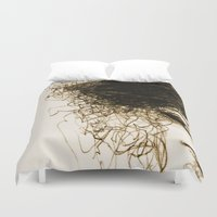 transparent Duvet Covers featuring Transparent by Sofia Karlström