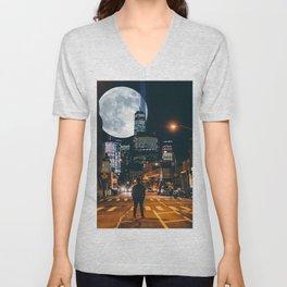 Jeremy And The Whole Moon Unisex V-Neck
