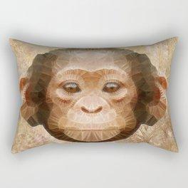 abstract baby chimpanzee Rectangular Pillow