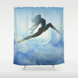 Dancer's Leap Shower Curtain