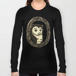 Owl in a Tree Art Long Sleeve T-shirt