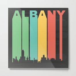 Vintage Albany Cityscape Metal Print