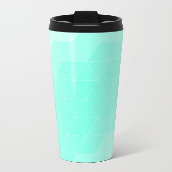 Mint Triangle Metal Travel Mug