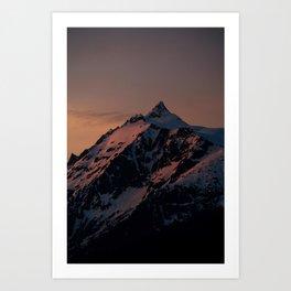 Sunset over Mount Shuksan Art Print