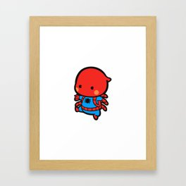 spider mascot Framed Art Print