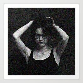 Antonina in black and white Art Print