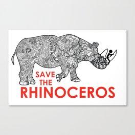 Save the Rhino Canvas Print