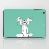 antler iPad Cases featuring Antler Girl by Melissa Hamid