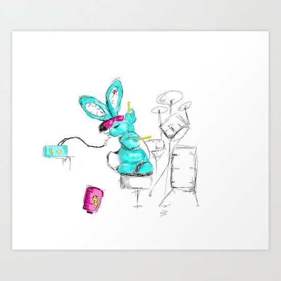 Go Juice Art Print