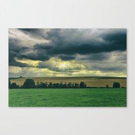 Broken skies Canvas Print