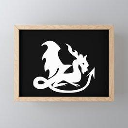 Dragon white, fantasy, mythical creature Framed Mini Art Print
