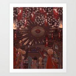Monster Party Castle Art Print