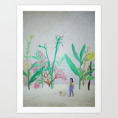 i'm lost in your garden with my sheep. Art Print
