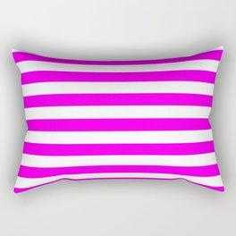 Stripes (Magenta & White Pattern) Rectangular Pillow