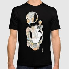 botany///buds Black Mens Fitted Tee MEDIUM