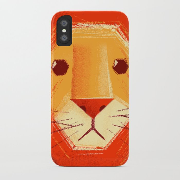 Sad lion iPhone Case