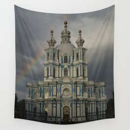 Postcards from Petersburg - Smolny Cathedal Wall Tapestry