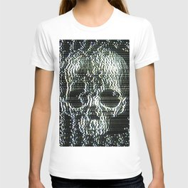 Analogue Glitch Jawless Skull T-shirt