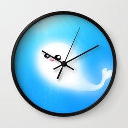 kawaii whale Wall Clock
