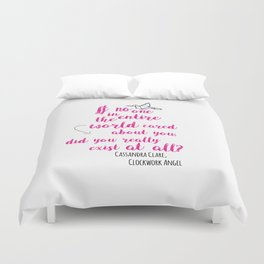 Do you exist at all?   Infernal Devices Duvet Cover