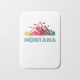 Retro Montana Design for Men Women and Kids Bath Mat