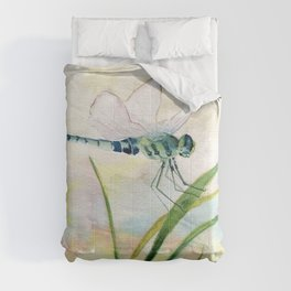 Dragonfly Watercolor  Comforters