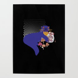 Trippy Otter Is Friends With Mushrooms Poster