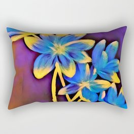 Radiating Flowers Rectangular Pillow
