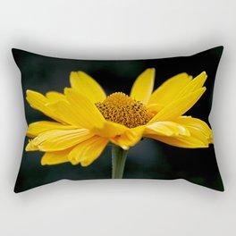 Bright Yellow And Black Rectangular Pillow