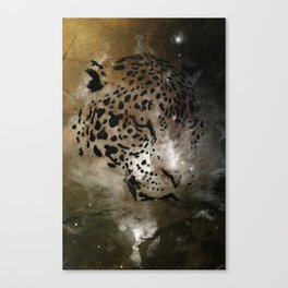 Space Leopard Knows What You Did Canvas Print