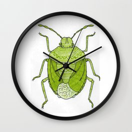 Aztec printed bug Wall Clock