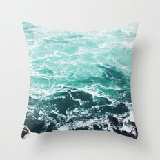 Blue Water Throw Pillow