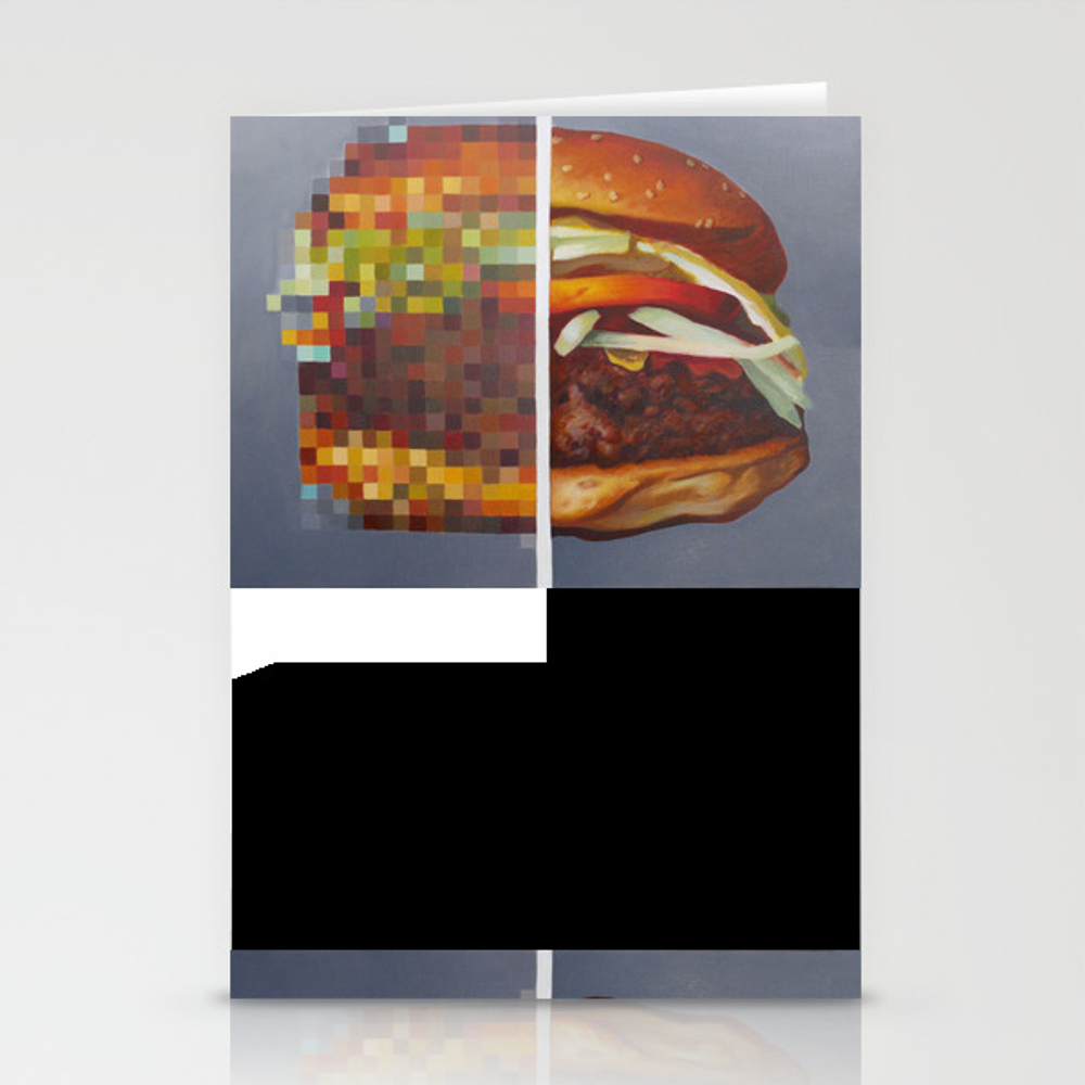 Hambuger Food Porn #1 Stationery Cards by Phil_olivier CRD7793408
