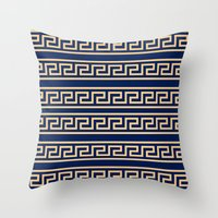 greek Throw Pillows featuring Greek by Mr and Mrs Quirynen