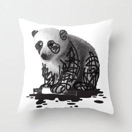 WANT TO BE A PANDA - cute animal artwork Throw Pillow